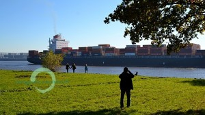 elb-container (Elb-Spaziergang in Hamburg)